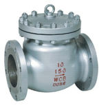 Válvula de verificación de China del borde del acero inoxidable del oscilación (H44W)