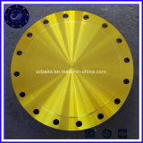 Gelber Beleg-blinder Flansch-Kohlenstoffstahl-Rohr-Flansch