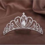 Искриться крона тиар венчания гребня Rhinestone сплава кристаллический