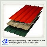 Gewölbtes vorgestrichene Stahldach-Blatt