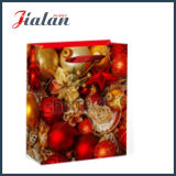 Merry Christmas Series Custom Cheap Logo Papel Impresso Carry Bag