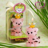 Симпатичная малая свечка подарка тигра для комплекта подарка свечки искусствоа дня рождения детей