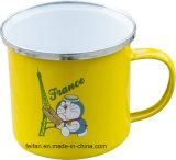 스테인리스 변죽 가장자리를 가진 Colorfull 장식 디자인 Enamle 컵