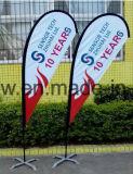 Bandeira personalizada do vôo da pena da praia do Teardrop de Pólo da fibra de vidro (SU-FG38)