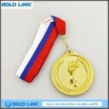 投げるオリンピックトーチメダルカスタム金メダルの硬貨は記念品を遊ばす