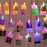 Prix de gros de la décoration d clips photo string de lumière à LED