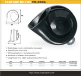 haut-parleur électrique sain fort de klaxon de véhicule d'escargot de l'universel 12V d'ABS de 80mm