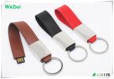 Carte mémoire Memory Stick neuve du cuir USB de Clé-Chaîne avec la qualité (WY-L40)