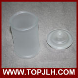Vaso de almacenamiento de vidrio helado en blanco Vaso de sellado de sublimación