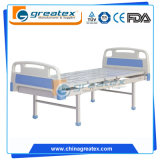 Einfaches flaches manuelles Krankenhaus-Bett