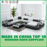 現代ホーム家具の本革のコーナーのソファーベッド