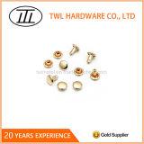 Заклепка металла золота свободно образцов изготовленный на заказ светлая