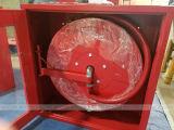 """Стальной шкаф с 1 """" вьюрком пожарного рукава качания X30m"""