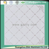 Roller Coating Printing Tecto Tile of Construction Material -Four Corners of Silver Flowers