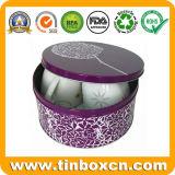 مستديرة قصدير صندوق لأنّ هبة يعبّئ صندوق, معدن قصدير علبة