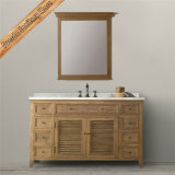 Alimentados-1680B Matt acabamento branco casa de madeira maciça de madeira armário de casa de banho de cortesia