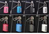 Cadeado de combinação Mini Resetable para bolsa de ombro