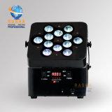 indicatore luminoso senza fili UV di PARITÀ del IRC LED di potenza della batteria di 12*18W 6in1 Rgbaw