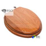 Los asientos de inodoro de madera moldeada HDF Chapa de madera con bisagras de cierre lento