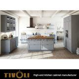 灰色および白い木の食器棚のシェーカー様式(AP064)
