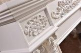 Hotel-Möbel europäische weiße schnitzende LED beleuchten Heizungs-elektrischen Kamin (320SB)