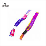 Bracelet personnalisé de tissu tissé par /Festival d'événement avec le blocage