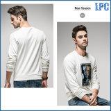Белый цвет для отдыхающих моды мужчин длинной втулки T футболка печать