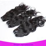 8A人間の毛髪の織り方の加工されていないカンボジアのバージンのRemyの毛
