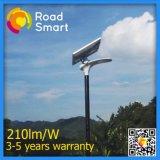 IP65 210lm/W 태양 에너지 LED 옥외 가로등