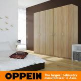 Guardaroba provvisto di cardini melammina di legno moderna del grano della camera da letto (YG16-M14)
