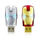 自由ロゴの鉄の人USB 2.0のフラッシュ駆動機構をカスタマイズしなさい