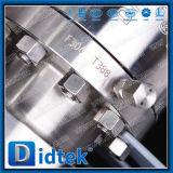Aço inoxidável de Didtek 316 válvulas de esfera elétricas da flutuação