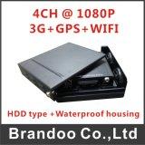 de Kaart van de Veiligheid DVR 1tb HDD BR van de Auto 1080P HD 4cameras