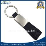 Barato e de couro de alta qualidade para chaveiro de metal presente de promoção