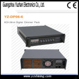 Stage Light DMX512 Controle 6 canais 6kw Digital Dimmer Pack