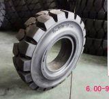 Fester Gabelstapler-Gummireifen 600-9, China-Gabelstapler-fester Reifen 6.00-9 Qingdao-Eastar