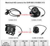 1080P HD 4cameras車の機密保護DVR 1tb HDD SDのカード