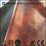 Cuoio sintetico della superficie dell'olio del PVC di Printting di colore di tono due per la tappezzeria del sofà