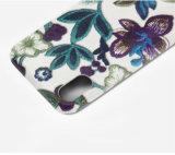 La broderie 3D neuve fleurit la caisse en cuir de téléphone pour l'iPhone 8