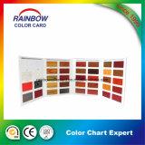 Cartão da cor da laca da mobília para a pintura de madeira