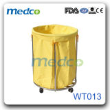 Matériau de rebut d'acier inoxydable de chariot à rectification médicale de chariot de nettoyage d'hôpital
