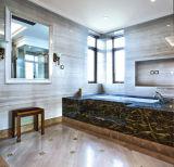 浴室の居間の寝室の装飾の白いPetrifideの木製の大理石のフロアーリング