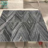 黒い木の大理石または古代木の大理石か大理石の平板か木製の大理石か磨かれた平板