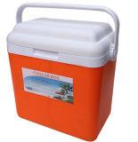 Померанцовый пластичный мешок льда пикника для хранения еды вина