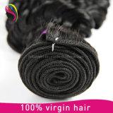 卸し売り加工されていないねじれたカールのバージンのRemyのインドに人間の毛髪の編むこと