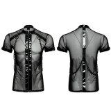 T-465 Punk Minimalist Dense Mesh Petit T-Shirt Collier Cross Chain T-Shirt