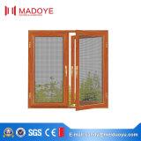 Finestra di alluminio di resistenza del vento con il disegno della griglia per materiale da costruzione