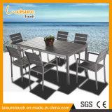 簡単な現代ホテルのレストランのPolywoodのアルミニウム食事の椅子表の一定の庭の屋外の家具