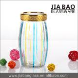 جديدة تصميم بيع بالجملة [سدا ليم] رذاذ لون زجاج مرطبان