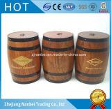 De douane Gegraveerde Vaten van de Koffie van het Embleem Uitstekende Houten